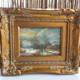 Twee miniatuur schilderijtjes bos en zomerlandschap